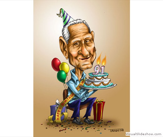 Hiram Birthday Caricature