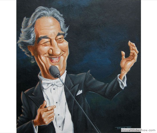 Placido Domingo Caricature